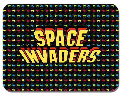 Space Invaders Arcade Video Game Mouse Mat. Classic Mouse Pad